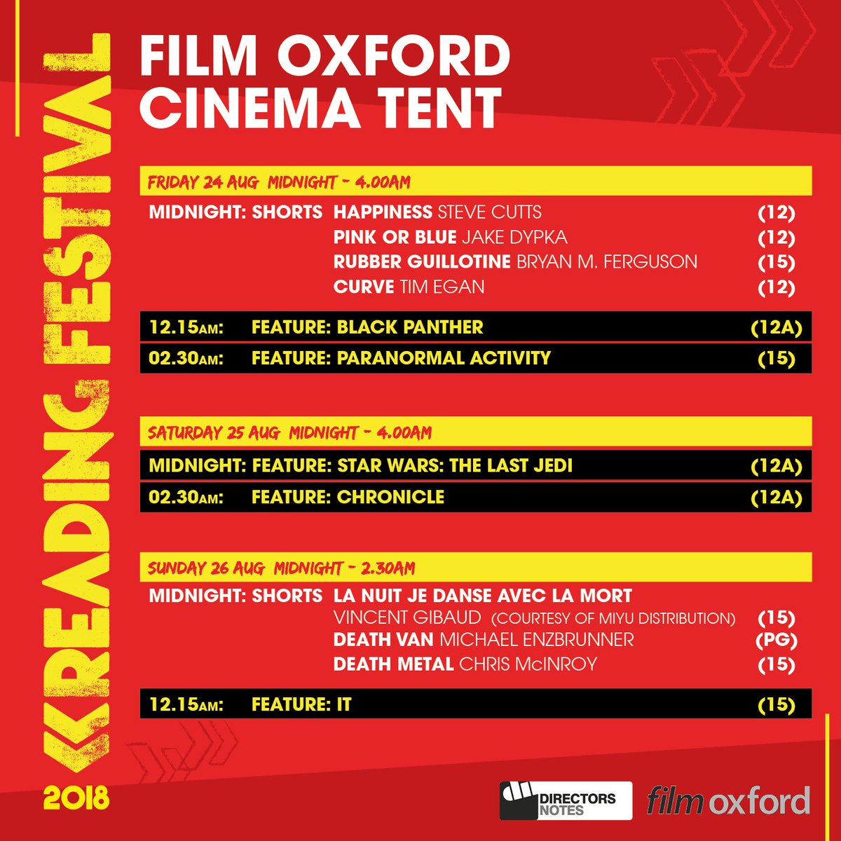 Fancy a film at #RandL18? 👀 Head to the @FILMOXFORD cinema tent after the music finishes at the 1xtra Stage! 🎬🎬