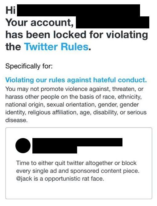 twitter account locked age