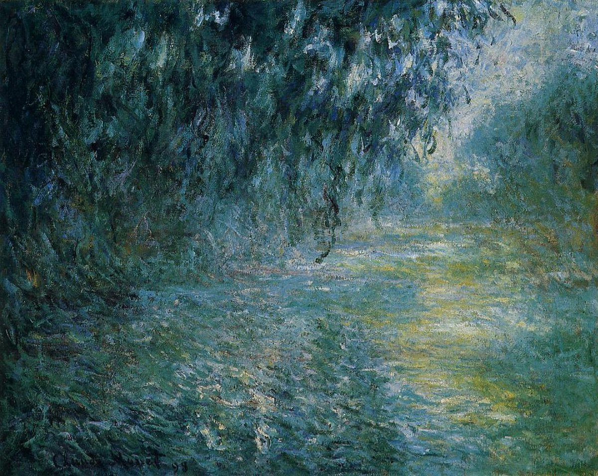 Morning on the Seine in the Rain #claudemonet #frenchart<br>http://pic.twitter.com/92TL1Gz0U0