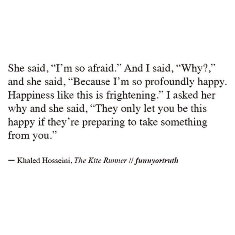 Poem Heaven On Twitter Sometimes Im Afraid To Be Happy