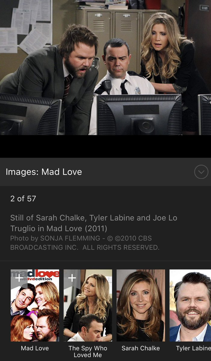 She couldn't remember the name of this awesome, underappreciated show called Mad Love. 30 sec on Google. That's the problem! We're so lazy, we ask social media &amp; wait days rather than Google it on our cells in secs!  ...prob coulda just tweeted @TyLabine &amp; figured it out.<br>http://pic.twitter.com/gfFbSxoRU6