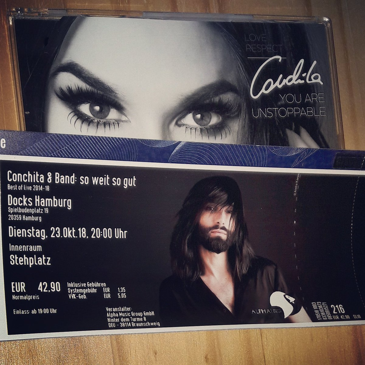 #Conchita &quot;Soweit so Gut&quot; Tour 2018 Germany and Austria  Get Your Tickets now  http:// reservix.de  &nbsp;   and  http:// oeticket.at  &nbsp;    #ConchitaSWSG #NewTour #ConchitaWurst #TomNeuwirth  http:// conchitawurst.com  &nbsp;    Count Every Second #Unstoppable #theunstoppables #LiveMusic<br>http://pic.twitter.com/xBuaygbwF7