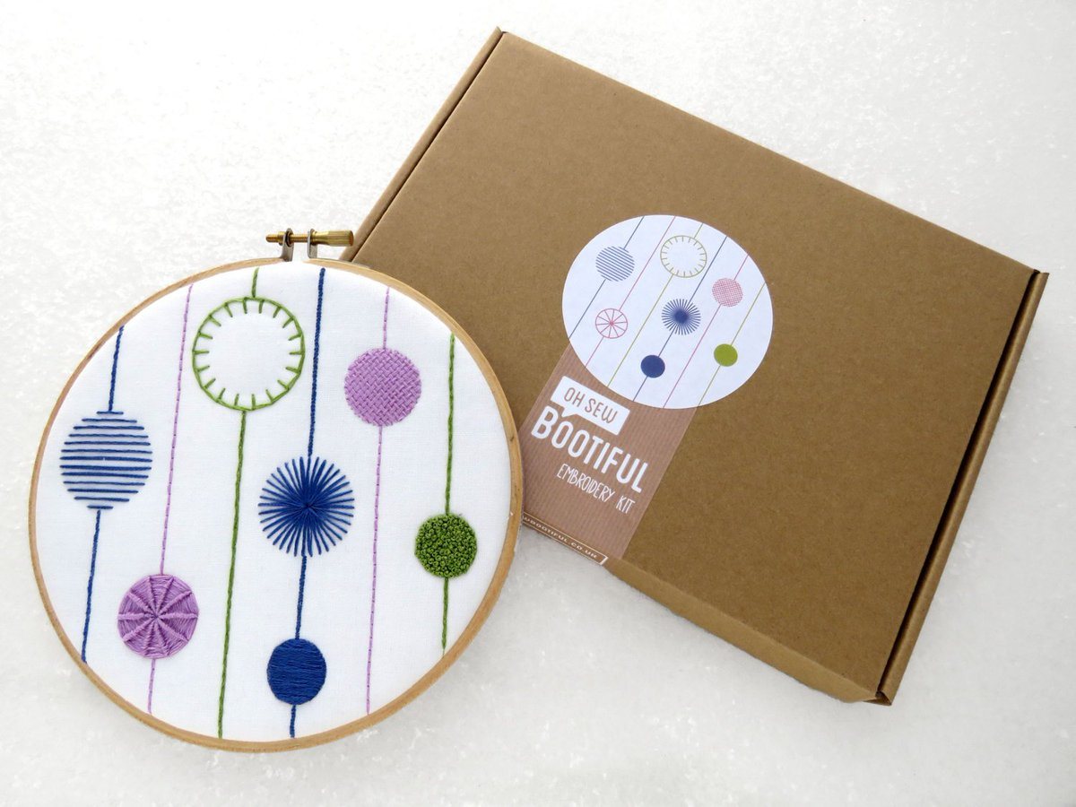 Oh Sew Bootiful On Twitter Embroidery Sampler Kit Modern