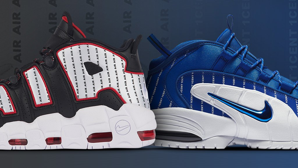 sale retailer 42081 34808 two court inspired classic kicks just dropped the nike air max penny and air  more uptempo