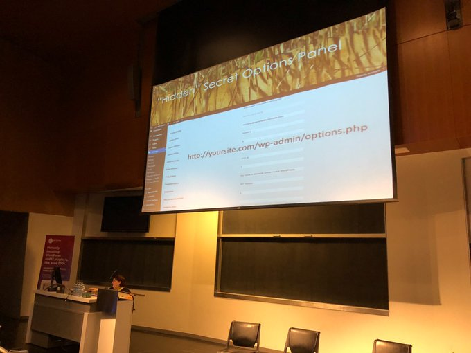 With great power comes great responsibility says @michelleames or the Enter at your own risk link 😎 #WCMTL Photo