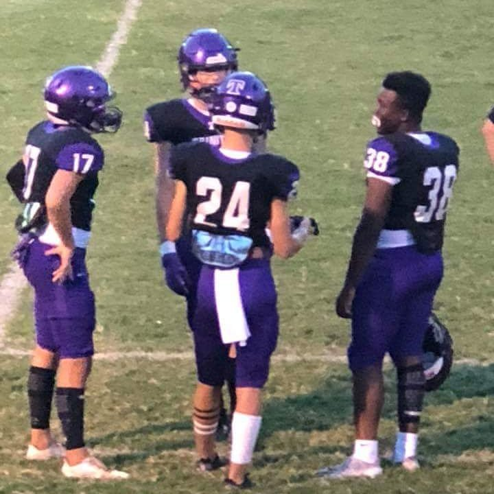 Jayce and his 9th grade friends got some varsity playing time last night against North Clayton... a Division 5A school! Jayce carried the ball for some tough yardage. Final score 30-0 Go Lions! Wearing #38 like @Trigga_Tray28  @AuburnBaseball  @UofGAFootball<br>http://pic.twitter.com/eTBKxDcrZu