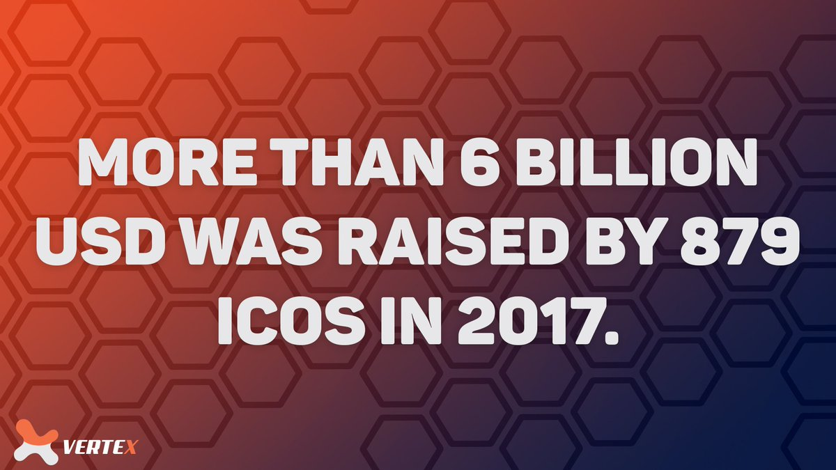 In 2017, $6 Billion was raised by 879 ICOs, imagine you could have gotten in on those projects knowing what a success they were to be- Now you can, with Vertex. <br>http://pic.twitter.com/nM4SBqmNnT