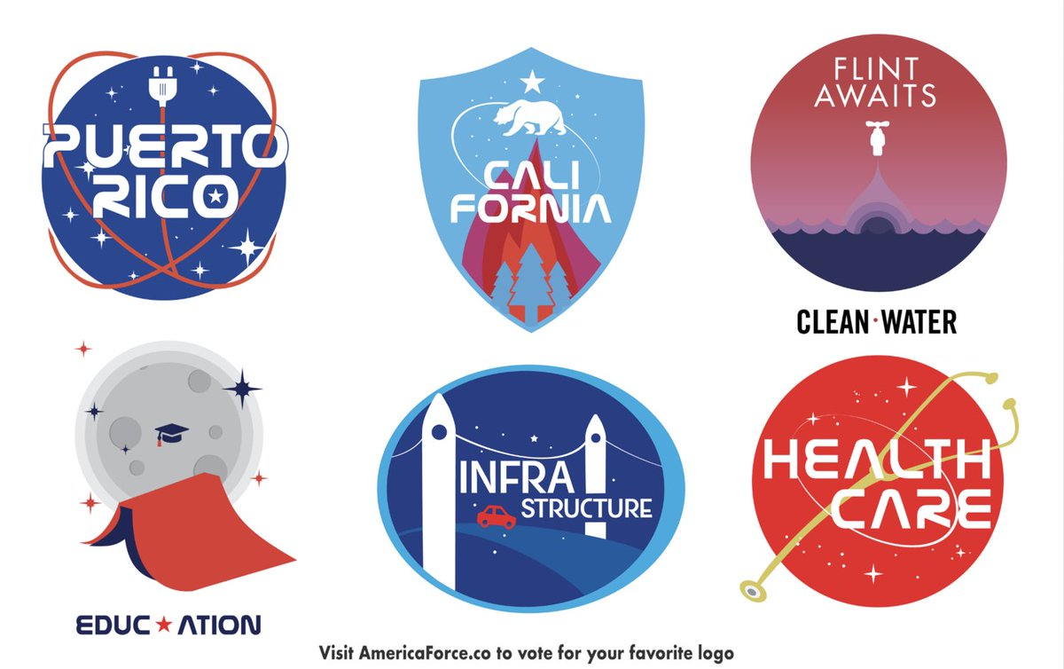 Wouldn't you rather vote on these cool ass logos than #SpaceForce?