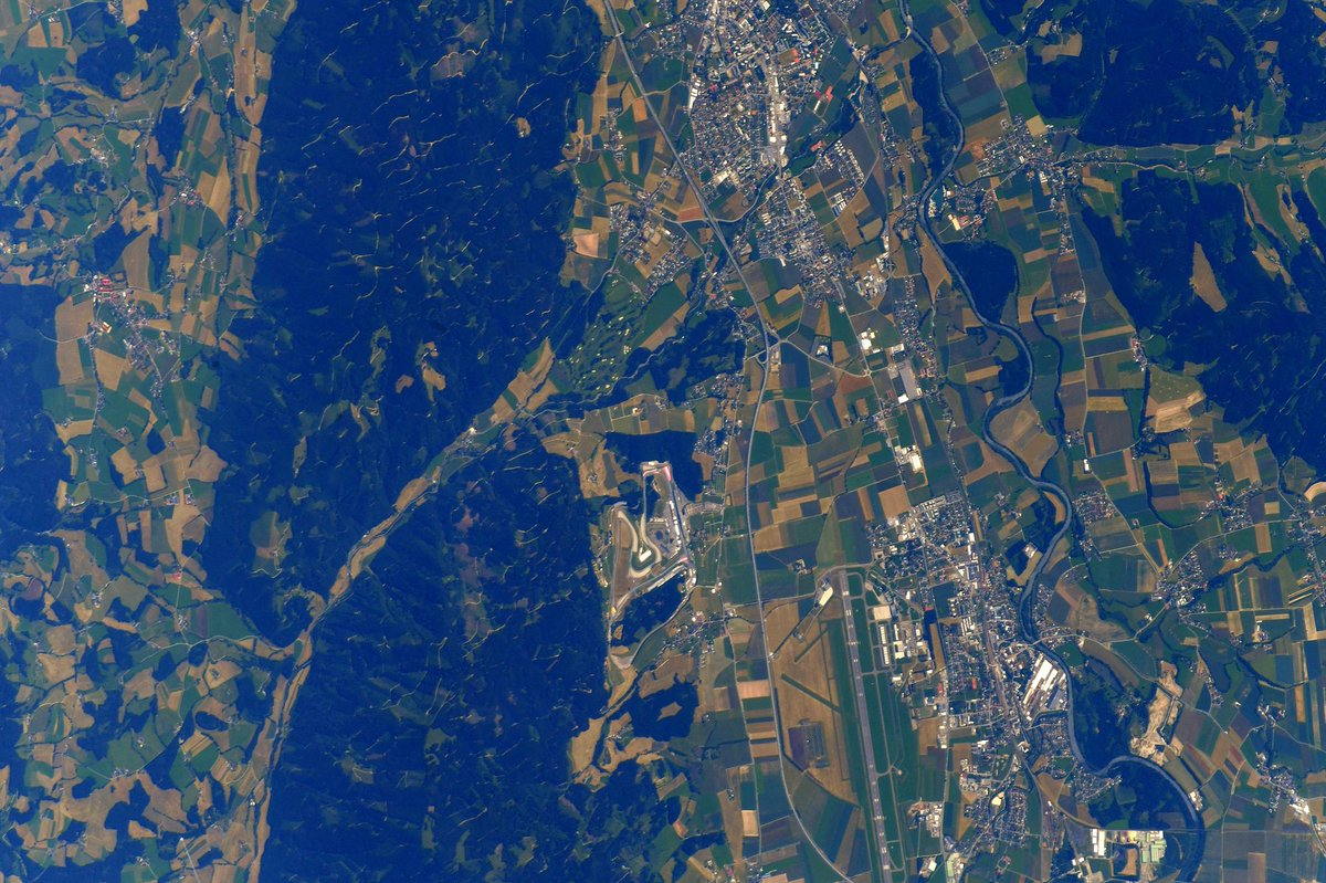 Posting a picture of the @redbullring track and surrounding areas. The region of #Austria provides a beautiful setting for a beautiful track! Best of luck for a safe and fast @MotoGP weekend! #MotoGP #AustrianGP