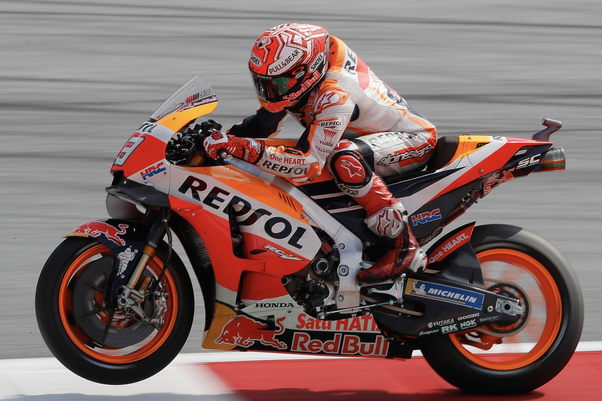 Another season pole for #MM93! Third row for #DP26 starting from 9th place on tomorrow&#39;s grid! #AustrianGP #MotoGP #RepsolTeam <br>http://pic.twitter.com/FeX99KtcmT