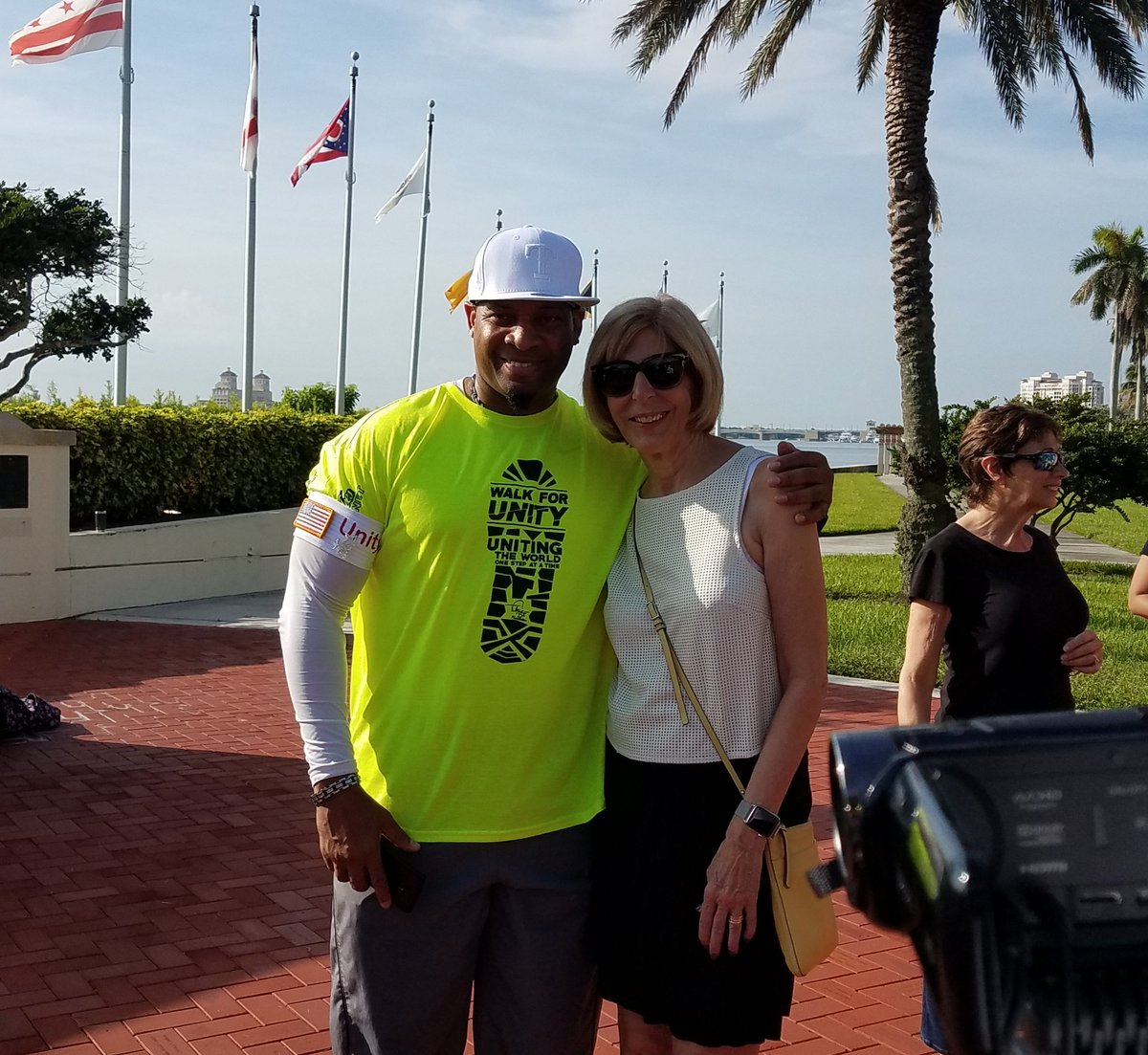 West Palm Beach On Twitter Mayor Jmuoio Wishes X102 3 S Reggie D The Very Best His Walk From To Seattle Is Walking Across