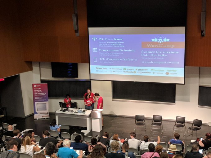 #wcmtl kicking off and wow am I super grateful to be here! Photo