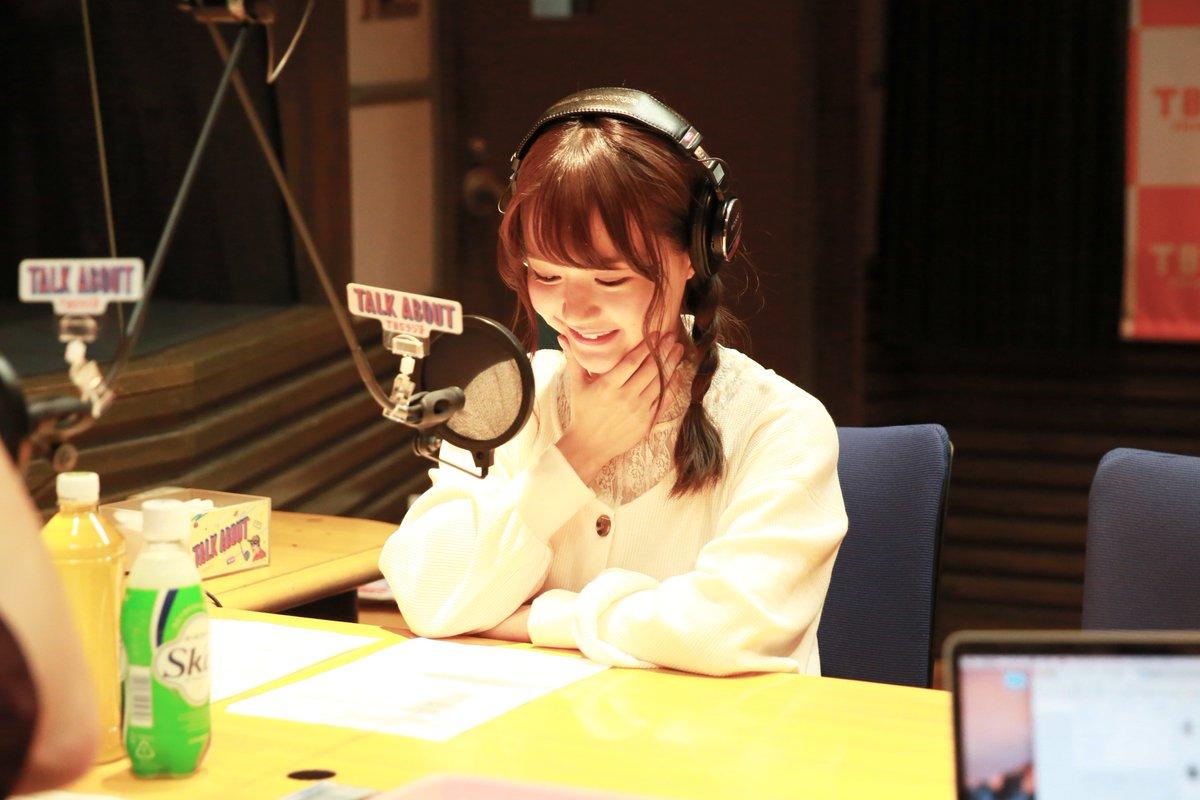 ラジオ番組中の尾崎由香さん