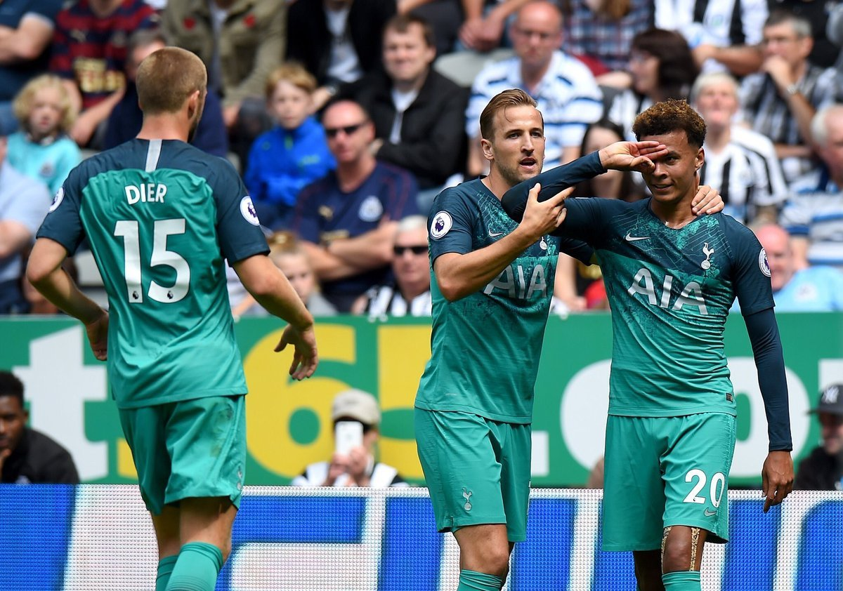 Pochettinos strong side get Spurs underway with a 2-1 win but Newcastle arguably had the better chances. Can the team from North London mount a serious title challenge after not strengthening their squad over the summer. That would be some story wouldnt it? #NEWTOT