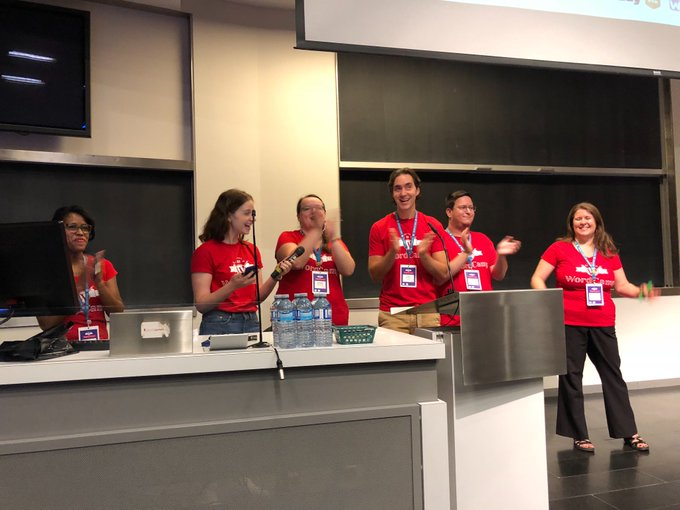 10 years of @wordcampmtl 🌟 Congrats to the local community and to the organising team #WCMTL Photo