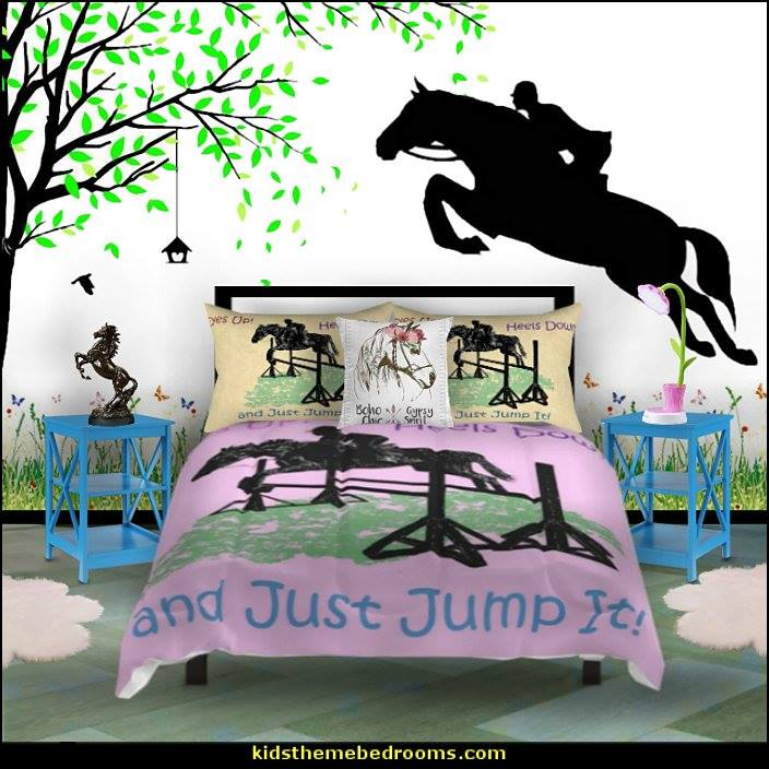 ... Http://themerooms.blogspot.com/2014/06/horse Theme Bedroom Horse Bedroom  Decor.html U2026 #bedding #furniture #murals #flowers #garden #pillows #rugs  ...