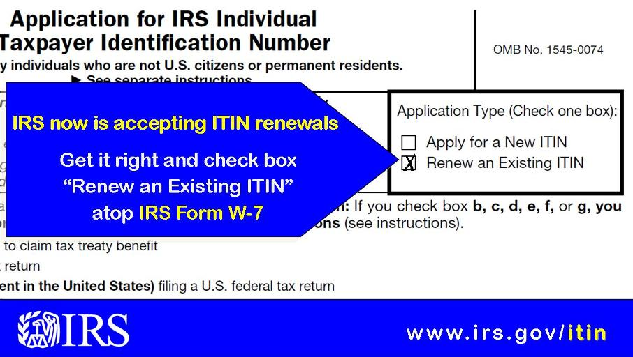 Irs On Twitter Irs Is Now Accepting Itin Renewal Applications