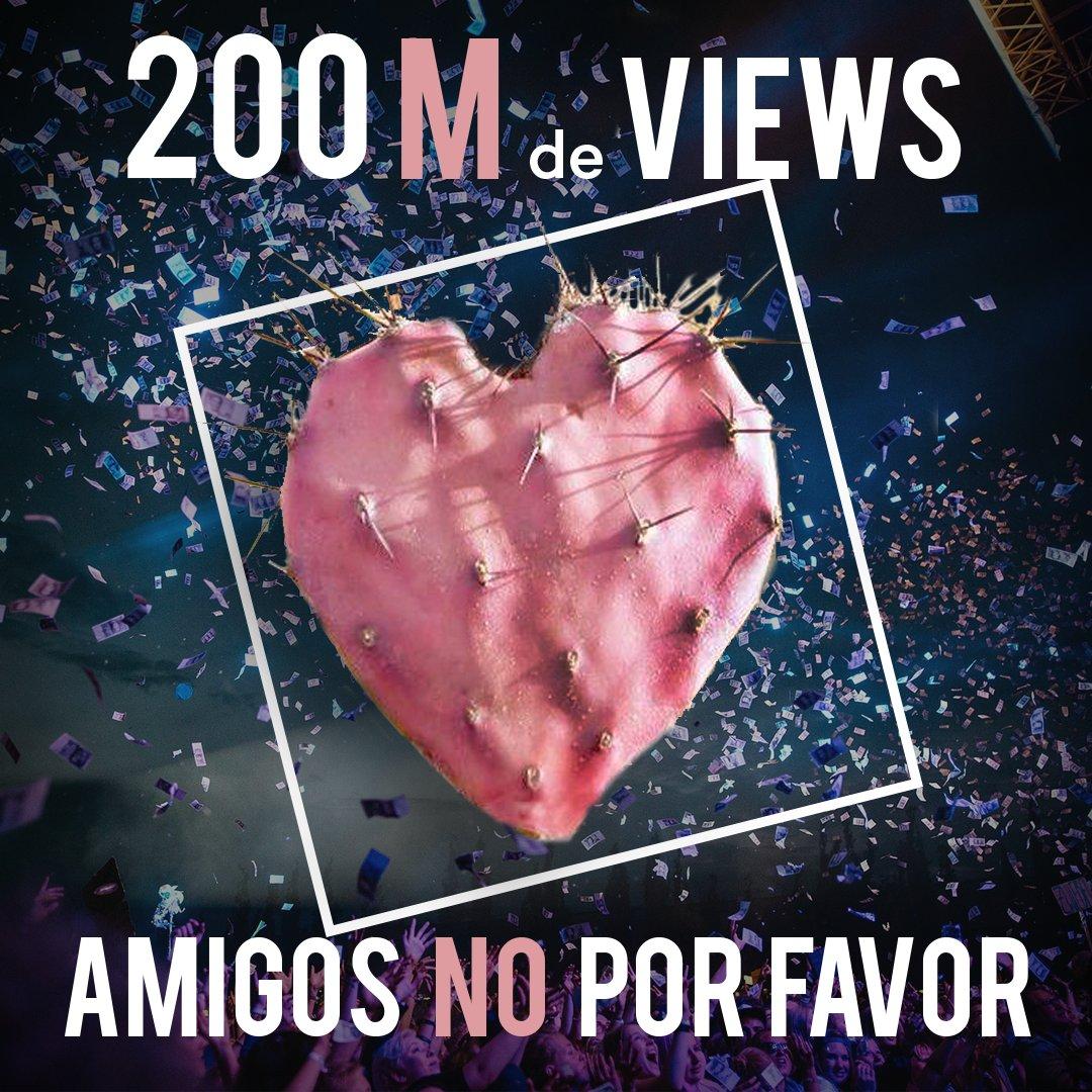 ¡¡Muchas gracias por su incondicional cariño #AmigosNoXFavor ha llegado a 200M de Views!! 🙌🏼 😘 🎉 🤗