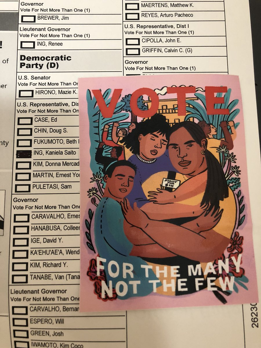We been through elections before but it really is something special to get to vote the love of your life for Congress. #hivoted #fightforaloha <br>http://pic.twitter.com/qRIAQoJXyY