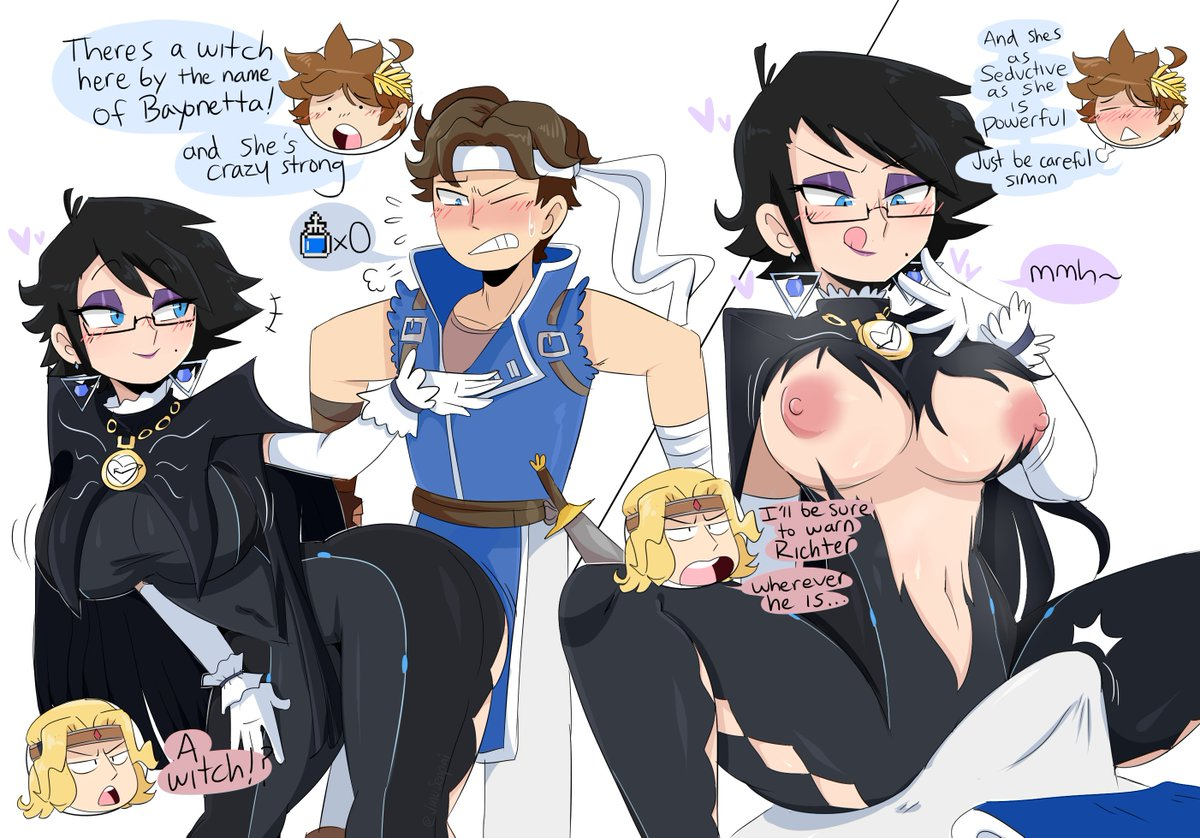 "Bayonetta Hentai jinu 🗿 on twitter: ""heres a small smash comic i made with"