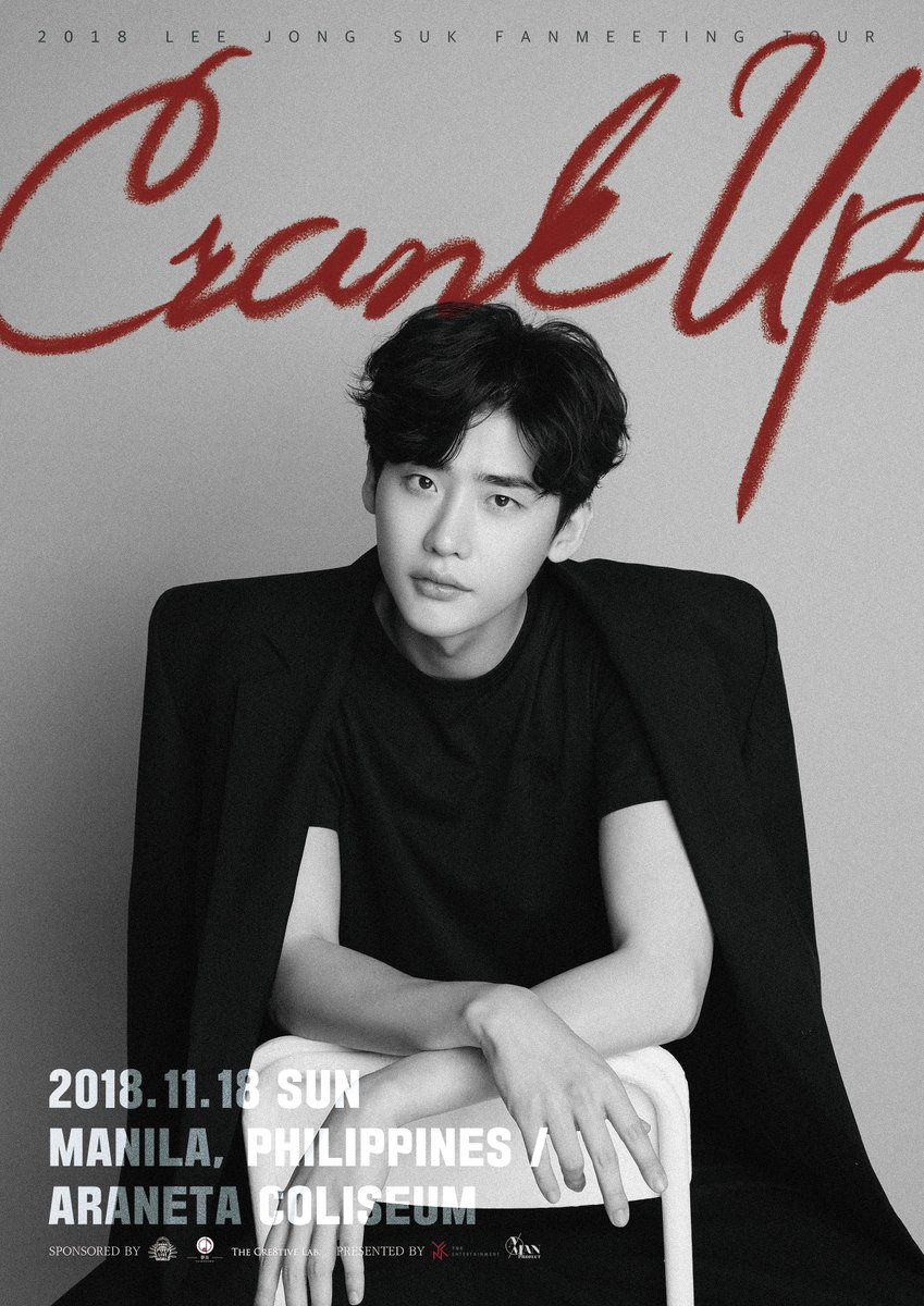 Manila, what would you do if you meet the man behind the famous Prosecutor, CEO, and Reporter?   We proudly present to you: 2018 #LeeJongSuk Fanmeeting Tour Crank Up in Manila happening on Nov 18 @TheBigDome.   Ticketing starts Sept. 16   #LeeJongSukInMNL #LJS