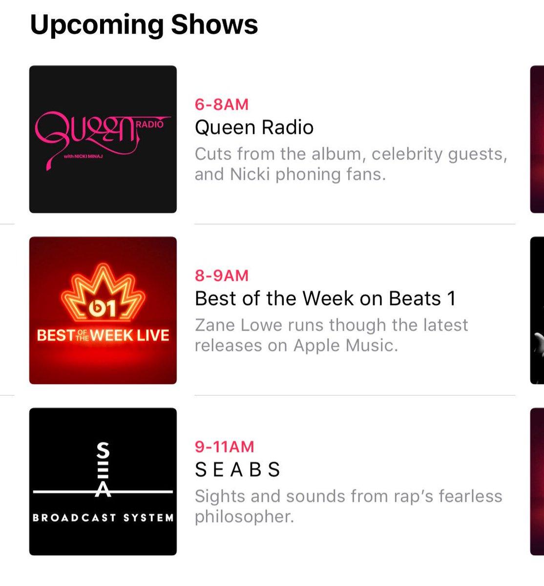 Per chi fosse interessato, domani mattina dalle 6 alle 8 Nicki sarà di nuovo in onda sulla #QueenRadio. La live consisterà nel riprodurre l'album e nel chiamare i fans e ci saranno delle celebrità come ospiti! https://itunes.apple.com/it/curator/queen-radio/1391364917?l=en  - Ukustom