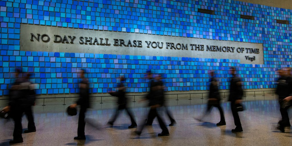 Do you remember the color of the sky that September morning? #911Memorial #911Museum #NeverForget