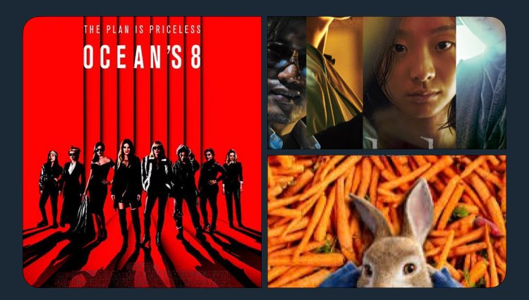 [Vlive] Movies Jinyoung watched recently:  Ocean&#39;s 8 The Witch: Part 1. The Subversion Peter Rabbit  So did the siblings went together to watch it  <br>http://pic.twitter.com/xBlXgoaoxa