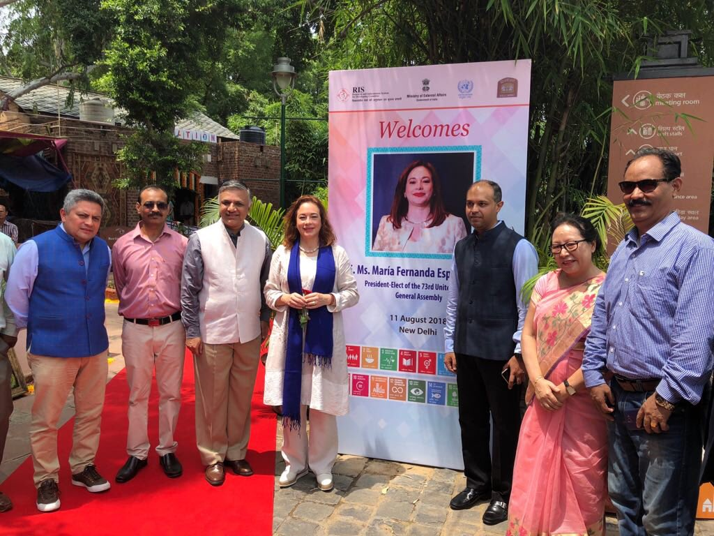 I was moved by the discussion with NGOs at Dilli Haat today. They make the SDGs relevant to all people through transformative actions like training women to be professional drivers. There, I got a taste of India's powerful diversity.