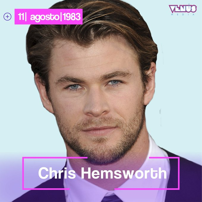 El talentoso actor australiano Chris Hemsworth cumple 35 años el día de hoy   Happy Bday Thor!
