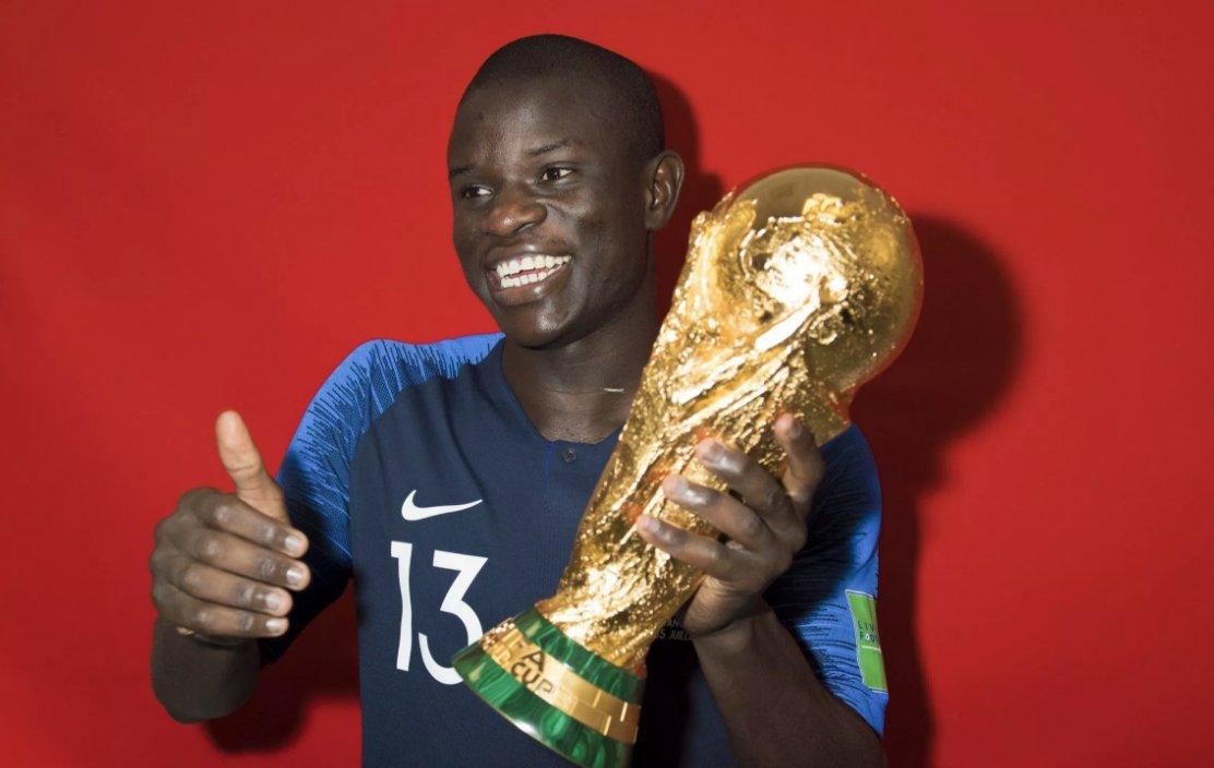 Helps Chelsea win the FA Cup   Gets selected for France&#39;s World Cup squad  Helps Les Bleus win the World Cup  Scores in Chelsea&#39;s Premier League opener against Huddersfield   All in a few months work for N&#39;Golo Kante  <br>http://pic.twitter.com/tbWTXlP2sL