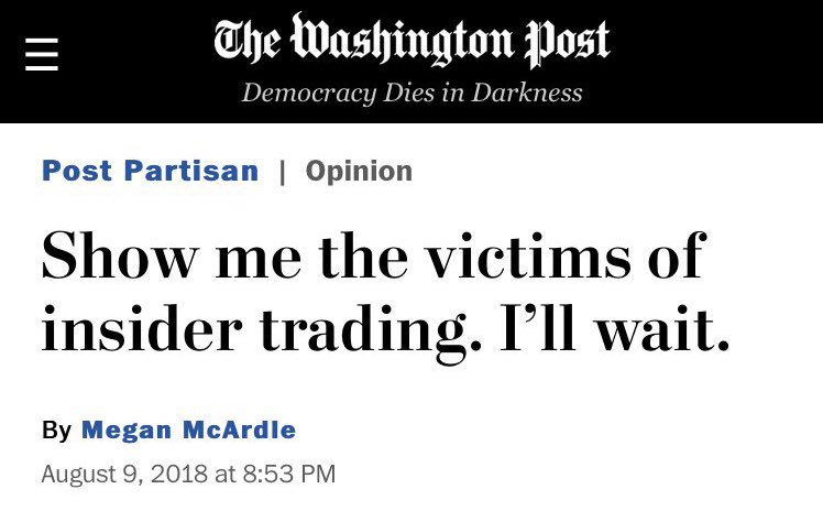 Tired: legalize pot Wired: legalize insider trading