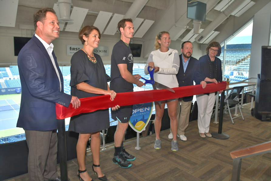 It's official! What do you think of @CincyTennis' new digs? #RibbonCutting #CincyTennis #WesternSouthernOpen