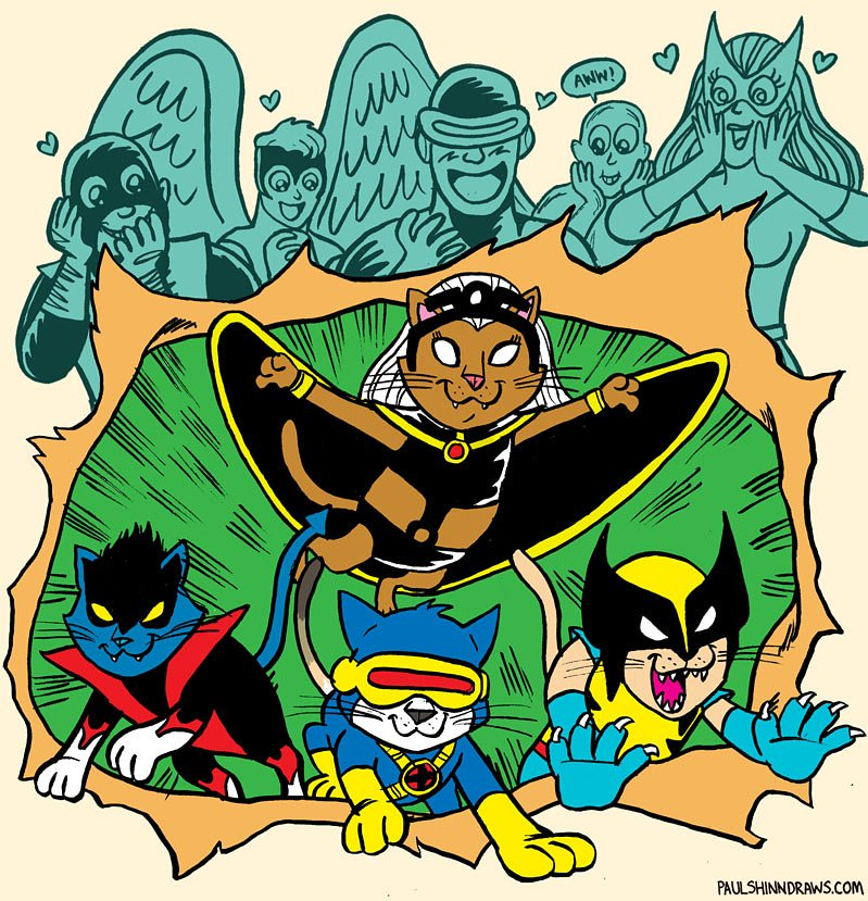 It was #InternationalCatDay  earlier this week and this week&#39;s Line It Is Drawn theme was to draw cats as comic book characters! So here are the All-Mew All-Different Uncanny X-Kitties! @XPlaintheXmen   https://www. cbr.com/cats-superhero es-gallery/ &nbsp; … <br>http://pic.twitter.com/xCRiEhl1QV