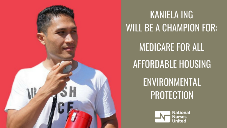 Hawaii needs a #MedicareForAll champion!  Today: 8/11 Vote Kaniela Ing for Congress (HI01)!  Nurses are proud to have endorsed @KanielaIng because he stands for RN values of caring, compassion and community. #FightForAloha <br>http://pic.twitter.com/FjX0b6885n