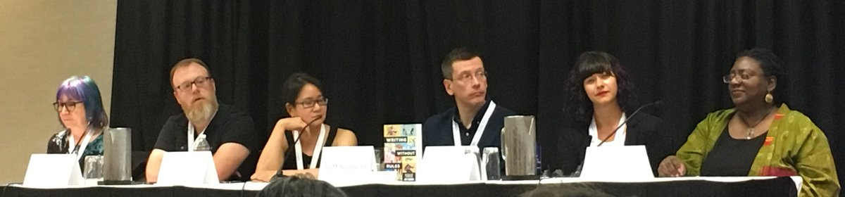 City Owl Author E. J. Wenstrom on Science-Fiction &amp; Fantasy Panel at Writer's Digest Annual Conference in New York City. She's joined by amazing editors and authors: Ann Vandmeer, @ChuckWendig, @writersyndrome, Jeff Sommers, @jennbrissett, and Jess Zafarris, #wdc18 @EJWenstrom<br>http://pic.twitter.com/5Lx1DR9zuR