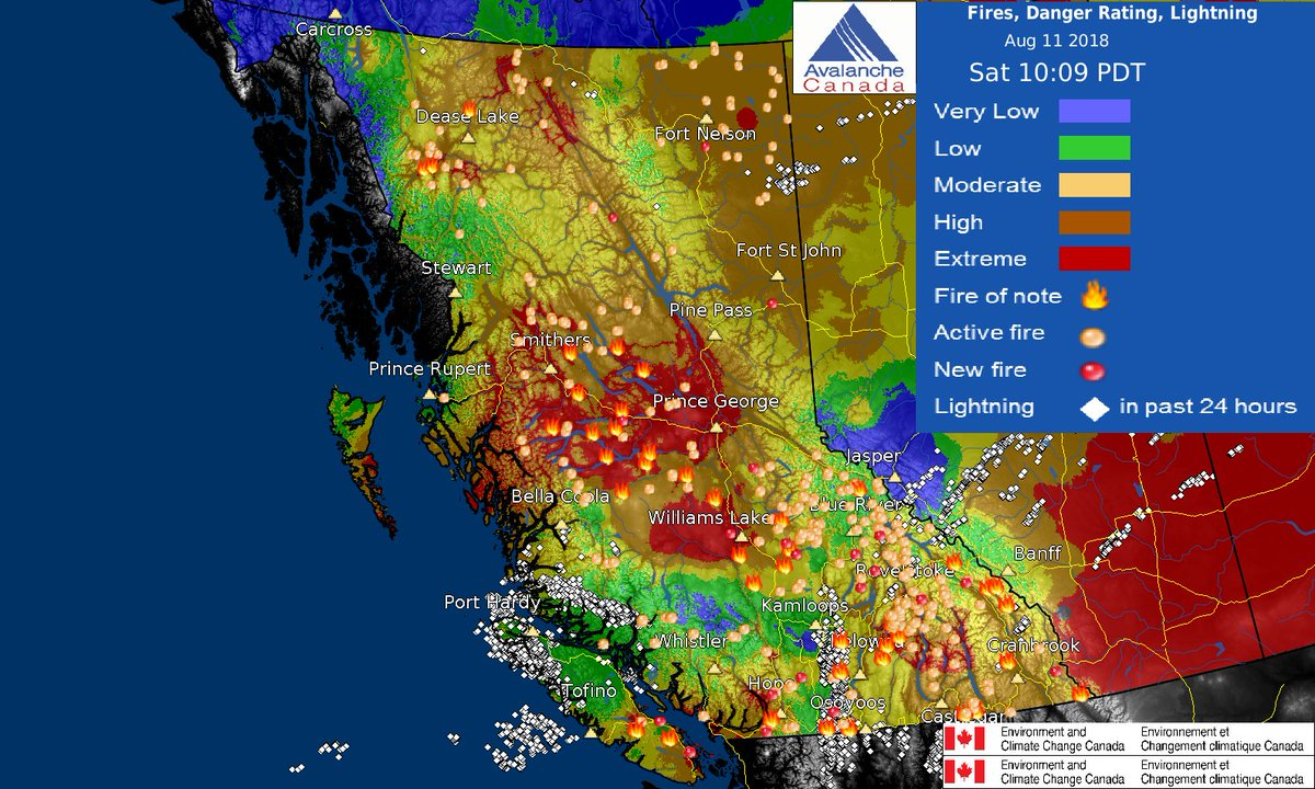 Eccc Weather British Columbia On Twitter Fire Danger Rating Map