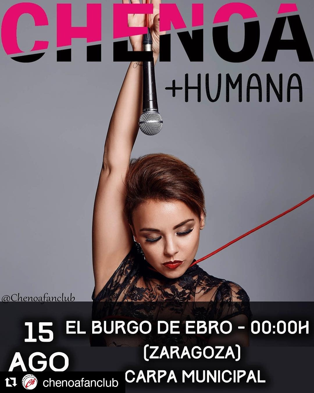 Chenoa en El Burgo de Ebro, Zaragoza, concierto, Zaragoza