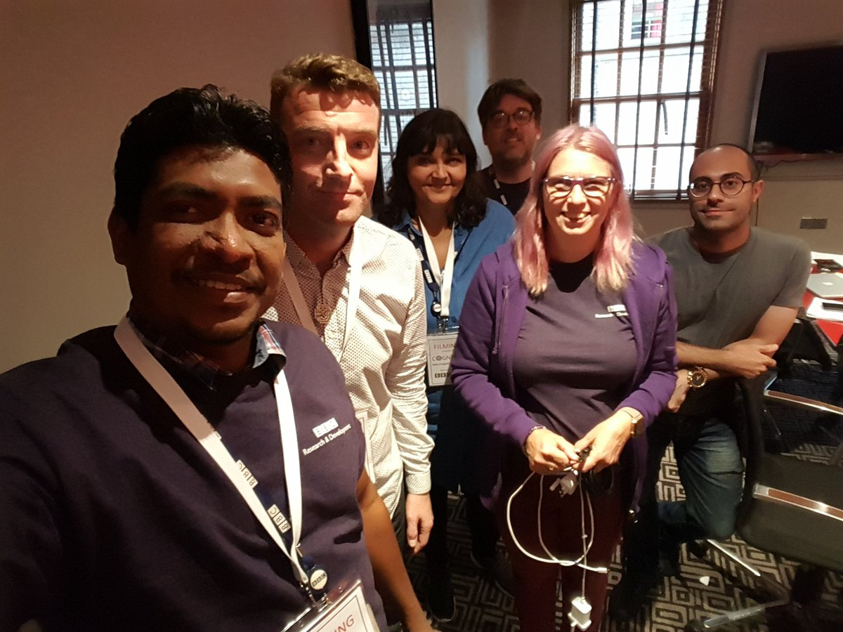 The team behind the @H2020Cognitus #edinburghfestival trial at base camp. @BBCRD #h2020 <br>http://pic.twitter.com/L3PfeQZDp5