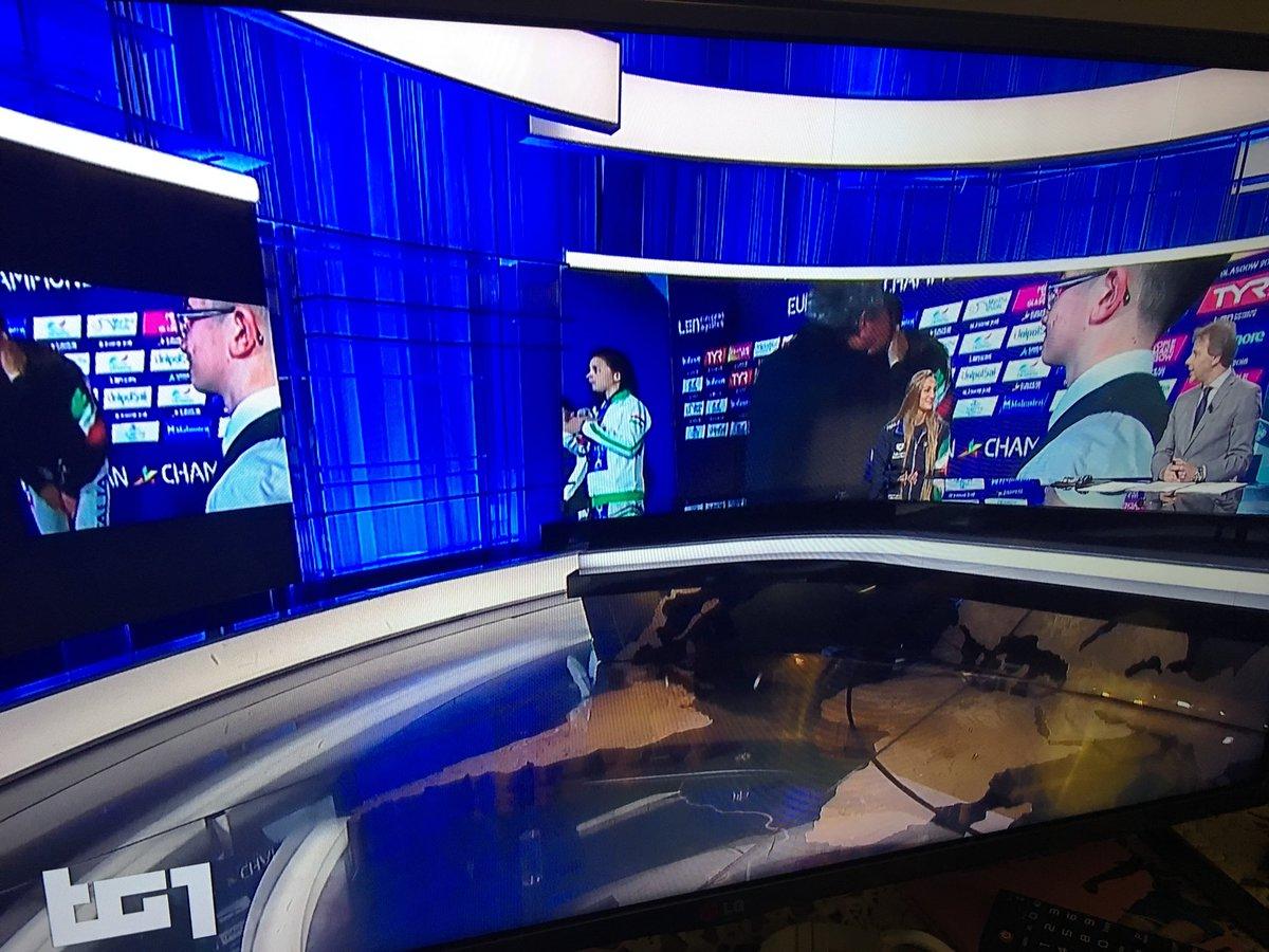 Brava #Rai una volta tanto: Simona #Quadarella è ospite nell'edizione serale del @tg1online ed entra così nelle case di tutti gli italiani, anche quelli che non hanno ammirato le sue imprese a #Glasgow2018  - Ukustom