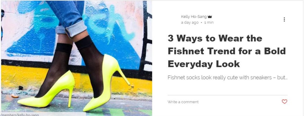 Fishnet hashtag on twitter