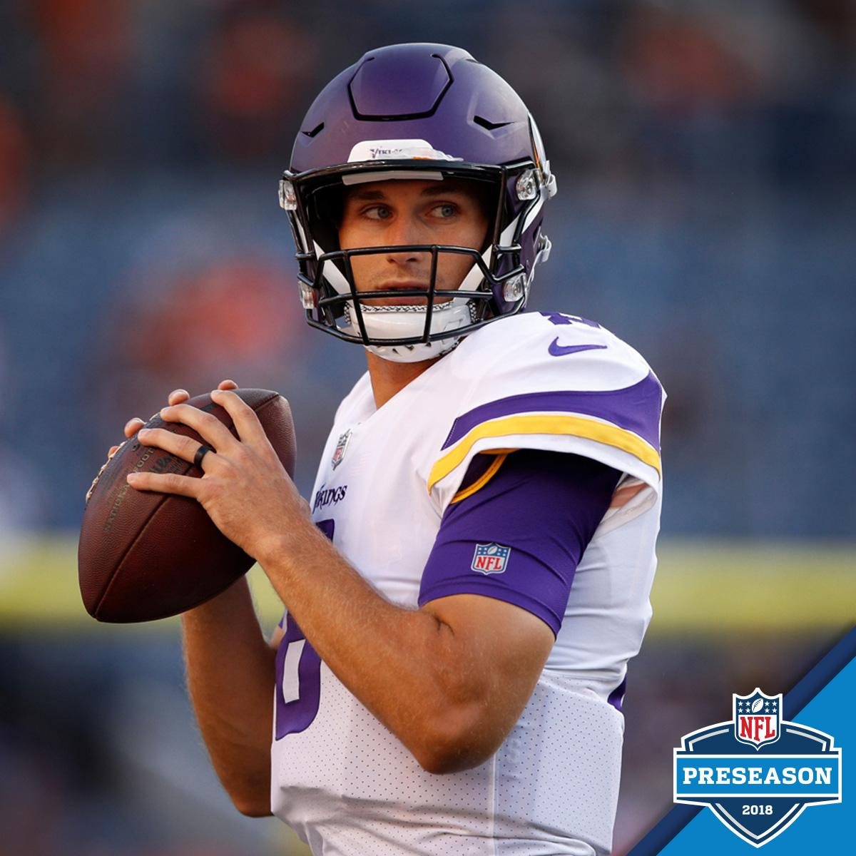 .@KirkCousins8 and the @Vikings take on @casekeenum and the @Broncos.   Coming up NEXT (9pm ET) on @nflnetwork! #MINvsDEN<br>http://pic.twitter.com/lGtQufd64H
