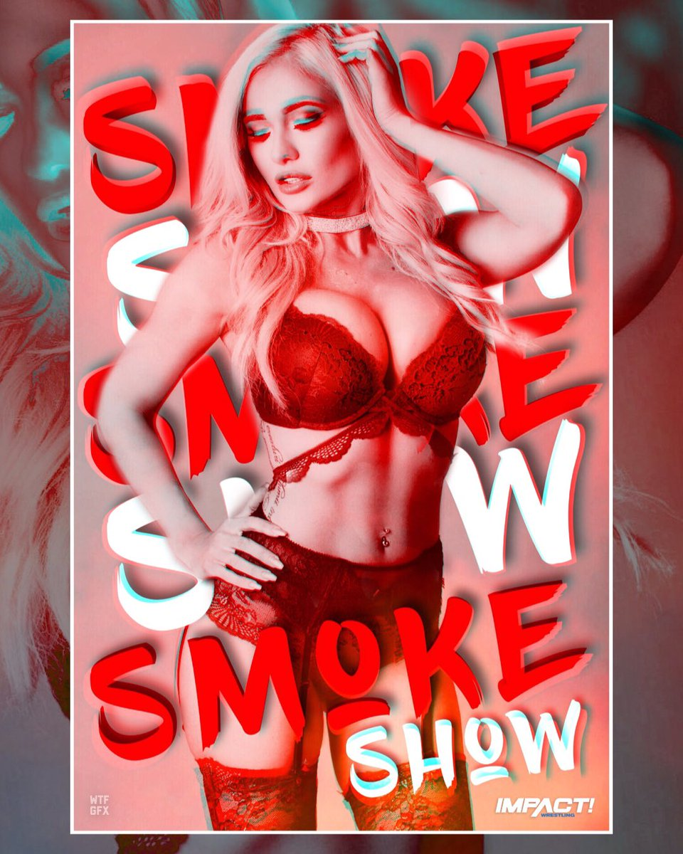 #ImpactOnPop has become host to the #SmokeShow featuring the newest Knockout #ScarlettBordeaux! | @Lady_Scarlett13<br>http://pic.twitter.com/9CB1YrbiS9