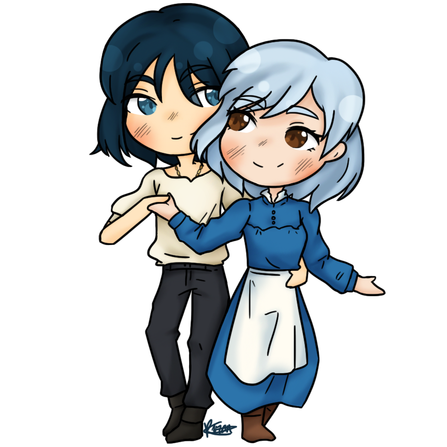 sorry im late www  howl and sophie are so cute ;; #ハウルの動く城 <br>http://pic.twitter.com/WzEj9Yq8nj