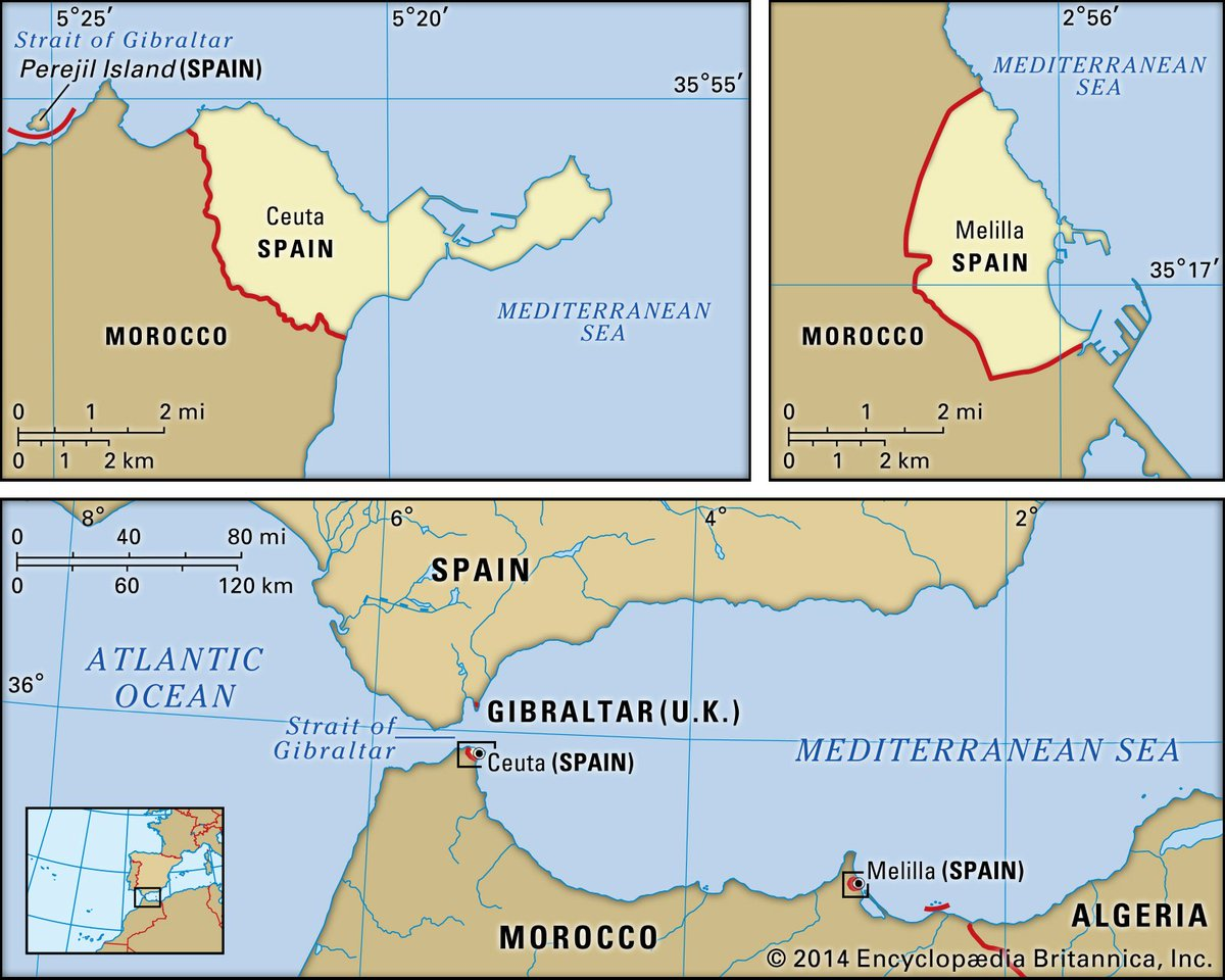 #DidYouKnow that there are two cities on the African continent that are part of Spain? eb.com/place/Spanish-…