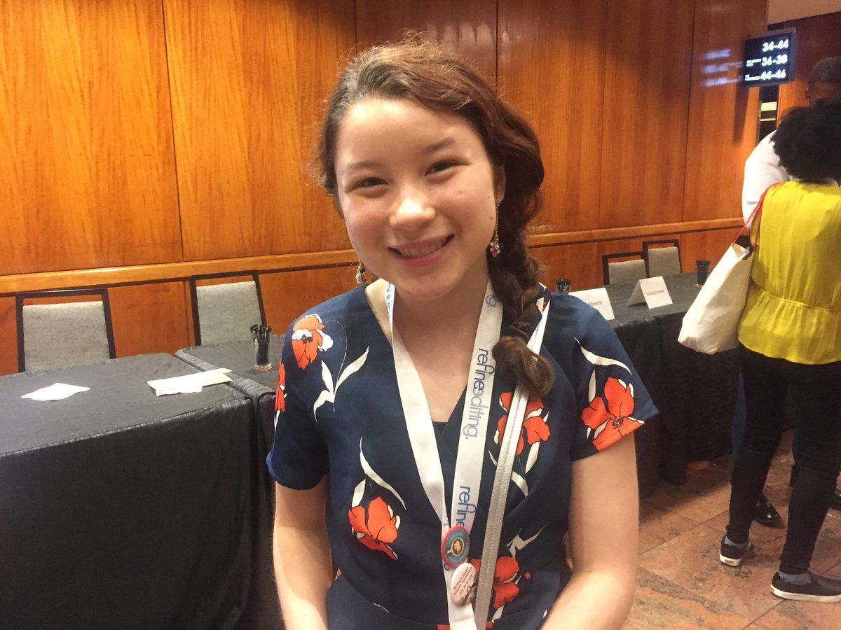 Have you met Lorena Koppel? She's a fiction author. Six out of six agents at #pitchslam requested pages from her. She's 14 years old. And she is awesome. #wdc18 <br>http://pic.twitter.com/gcRZSF76hp