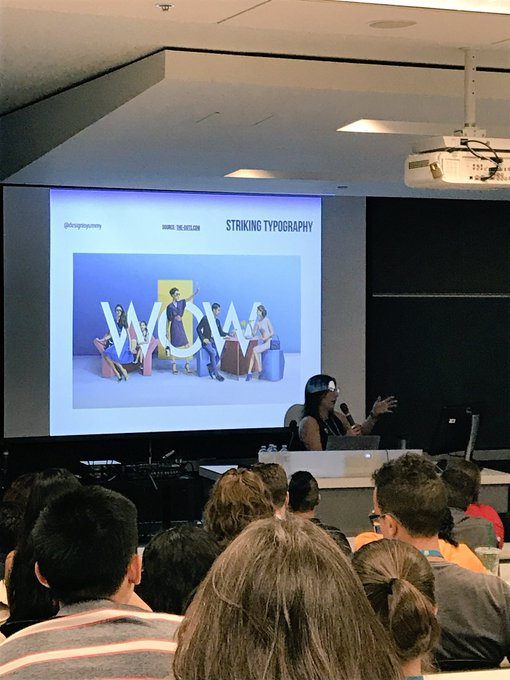 Great talk on design trends by @designisyummy @wordcampmtl #wcmtl Photo