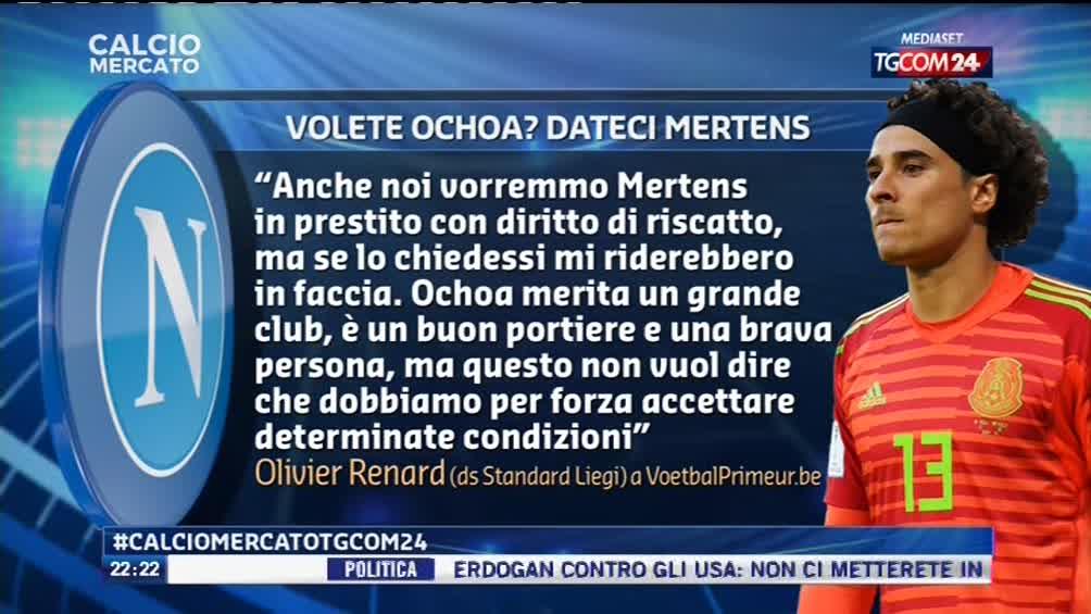 """#calciomercatotgcom24Lo #StandardLiegi continua a fare muro al #Napoli su #Ochoa: """"Lo volete? Dateci #Mertens..."""" Leggete qui la provocazione di #Renard.  - Ukustom"""
