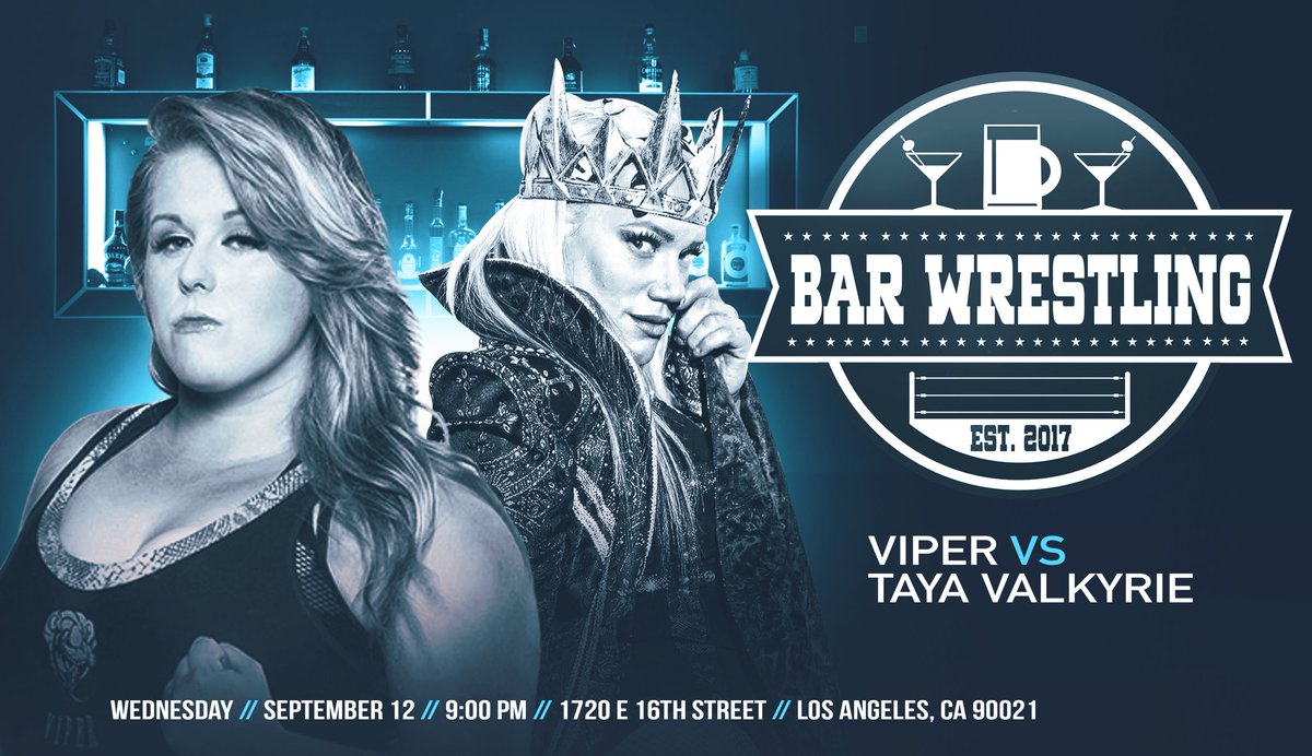 Wednesday, September 12th in Los Angeles featuring Viper vs. Taya Valkyrie! Tickets at  https://www. ticketfly.com/purchase/mobil e/index/1740706?utm_medium=bks &nbsp; …   Thursday, September 13th in Baldwin Park featuring Viper vs. Tenille Dashwood! Tickets at  http:// m.bpt.me/profile/2733662  &nbsp;    • $25 presale + first entry • $40 walk-ups at door <br>http://pic.twitter.com/dh8xJ4q9zu