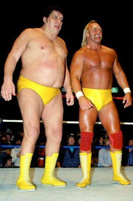 Andre the Giant and Hulk Hogan Happy Birthday Hogan!